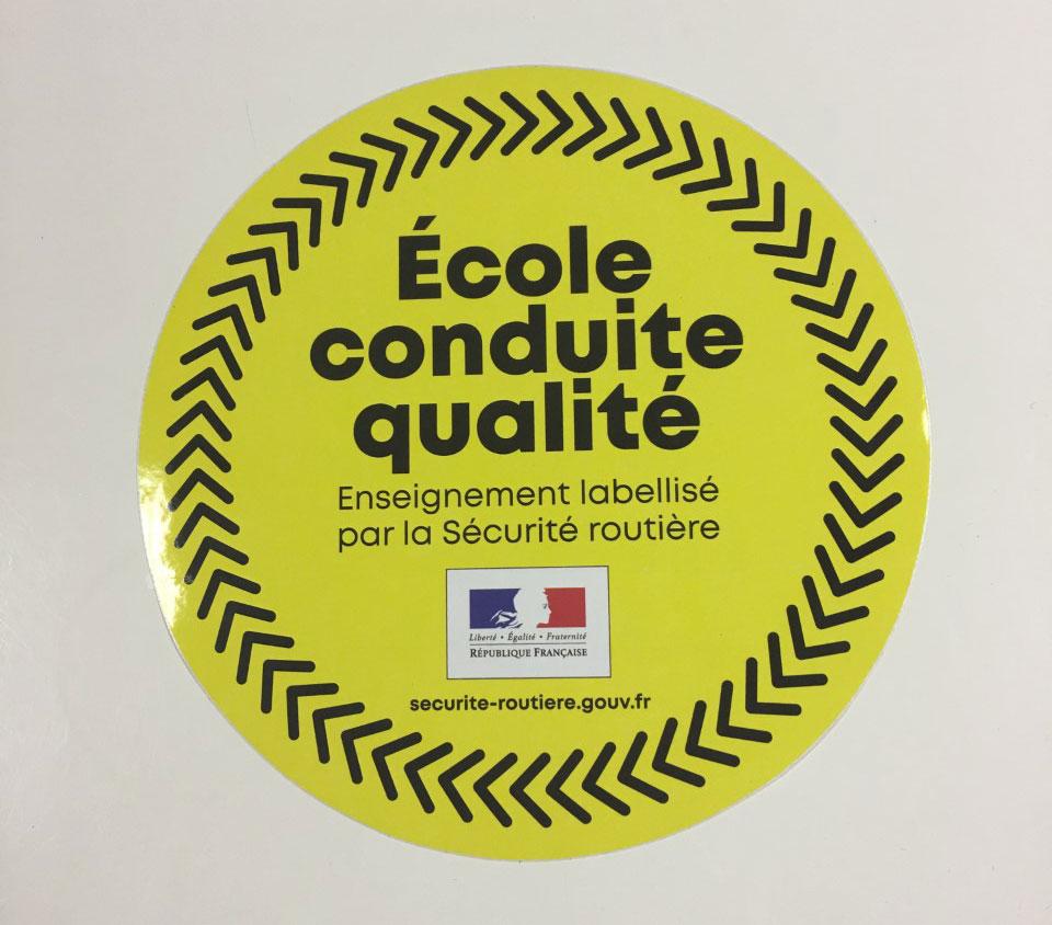 label conduite qualite
